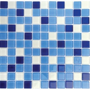 Мозаика Vivacer Голубой мрамор 30х30