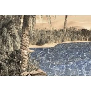 Декор Luxor 20x30 - 2 блакитний