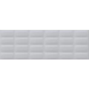 Плитка стіна Vivid Colors 25х75 grey glossy pillow