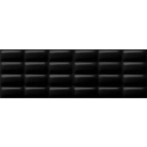 Плитка стіна Pret a Porter 25х75 black glossy pillow structure