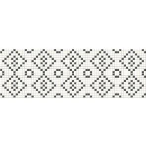 Декор Pret a Porter 25х75 black&white mosaic