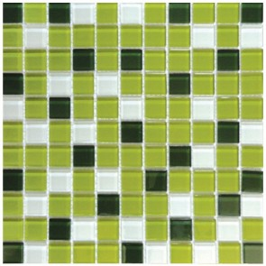 Мозаика Бело-зеленый Микс 30х30