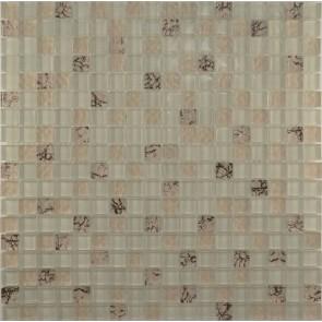 583 Мозаика микс топленное молоко - бежевый рифленый