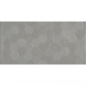 Плитка Стена Grafen Hexagon Grey 30х60