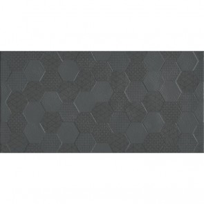Плитка Стена Grafen Hexagon Anthracite 30х60