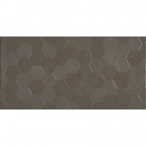 Плитка Стена Grafen Hexagon Brown 30х60