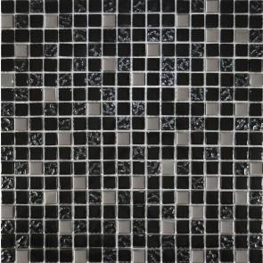 911 Мозаика микс черный-черный рифленый верх-платина