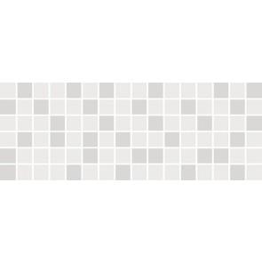 Декор Бельканто 15х40 білий мозаїчний