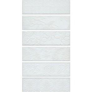 Панно Кампьелло білий, складається з 6 частин 8,5х28,5