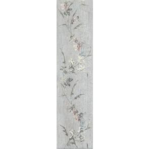 Плитка керамогранит Кантри Шик серый декорованный 9.9х40.2