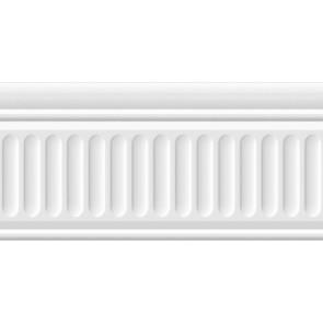 Бордюр Карнавал в Венеции белый структурированный 20х9.9