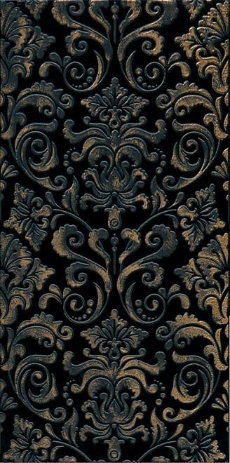 Декор Махараджа 30х60 чорний