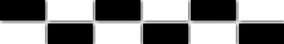 Бордюр Гармонія мозаїка 30,2х5 чорно-білий