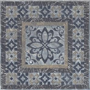 Вставка Бромли 19.6х19.6 серый темный