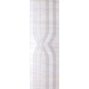Декор Барберини 25х75 серый