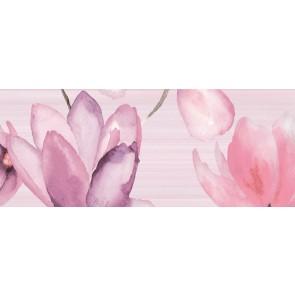 Декор FLORA pink1 20х50