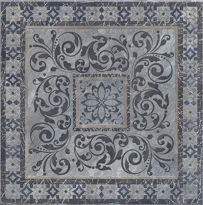 Декор Бромли 40.2х40.2 серый темный